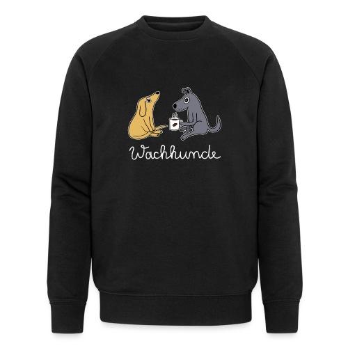Wachhund trinkt Kaffee Koffein weckt müde Hunde - Männer Bio-Sweatshirt