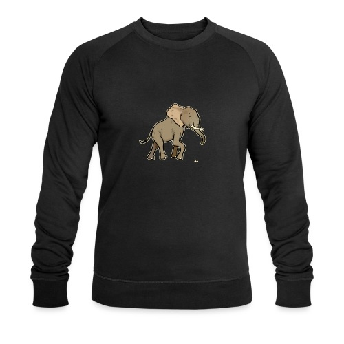African Elephant (black edition) - Sweat-shirt bio Stanley & Stella Homme