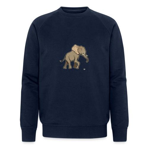 African Elephant (black edition) - Økologisk sweatshirt for menn fra Stanley & Stella