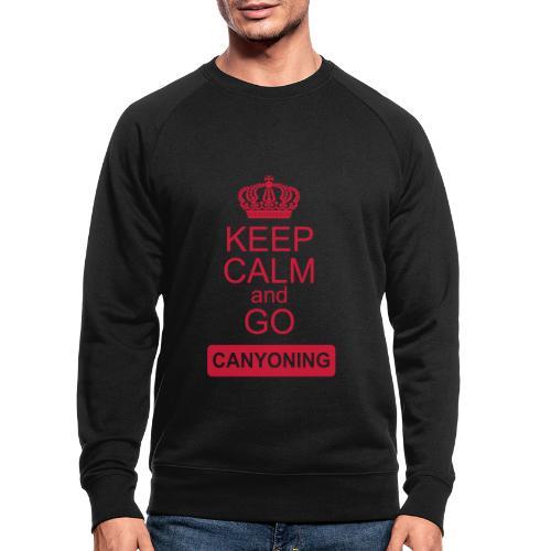 keep calm and go canyoning 2 - Männer Bio-Sweatshirt