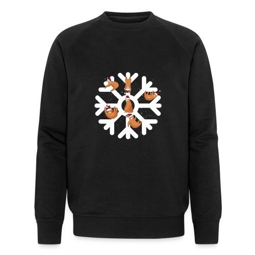 Snowflake Sloth - Men's Organic Sweatshirt by Stanley & Stella