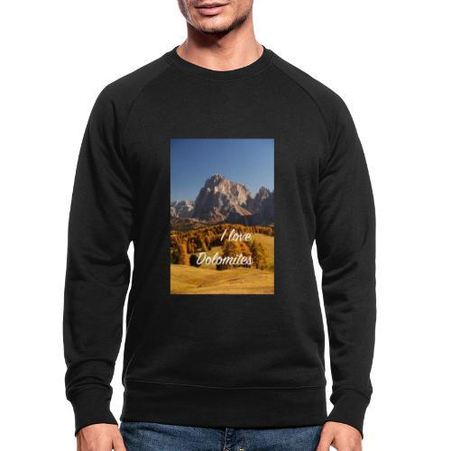 Langkofel - Wahrzeichen Südtirols - Männer Bio-Sweatshirt