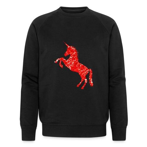 unicorn red - Ekologiczna bluza męska Stanley & Stella