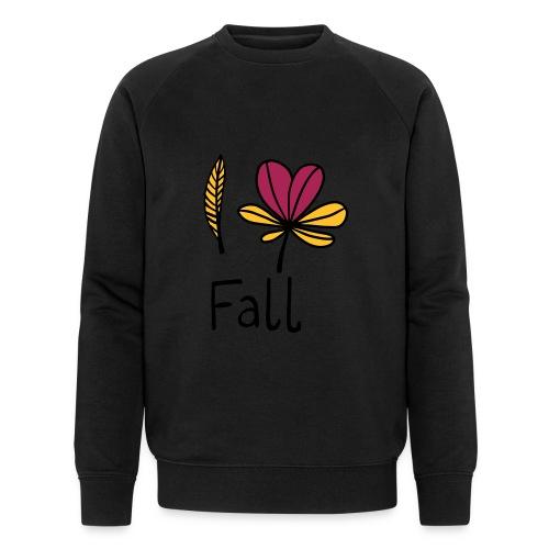 Fall in love - Männer Bio-Sweatshirt