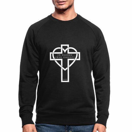 Im Namen JESU CHRISTI - weiß - Männer Bio-Sweatshirt