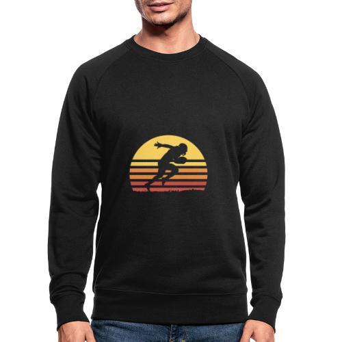 Football Sunset - Männer Bio-Sweatshirt