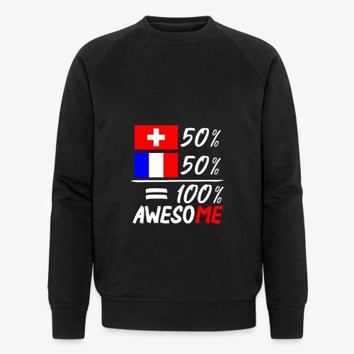 50% Schweiz 50% Frankreich - Männer Bio-Sweatshirt