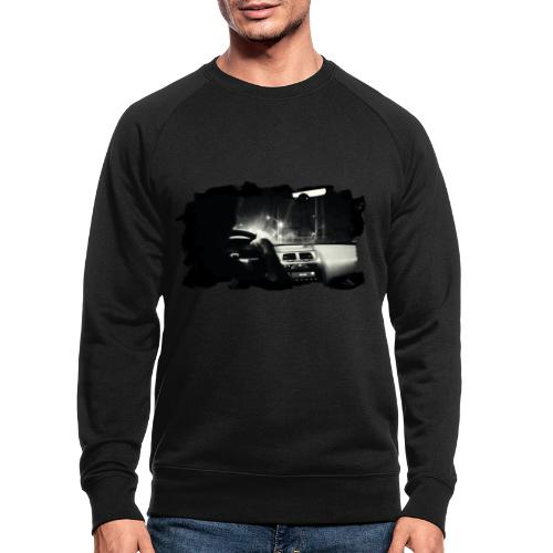Driving at Night (with white PS logo) - Økologisk sweatshirt til herrer