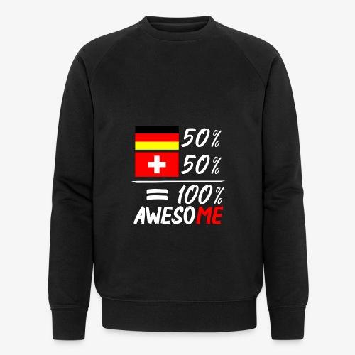 50% Deutsch 50% Schweiz - Männer Bio-Sweatshirt