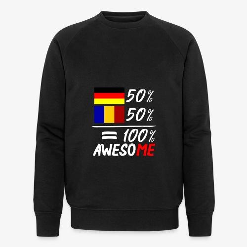 50% Deutsch 50% Rumänisch - Männer Bio-Sweatshirt