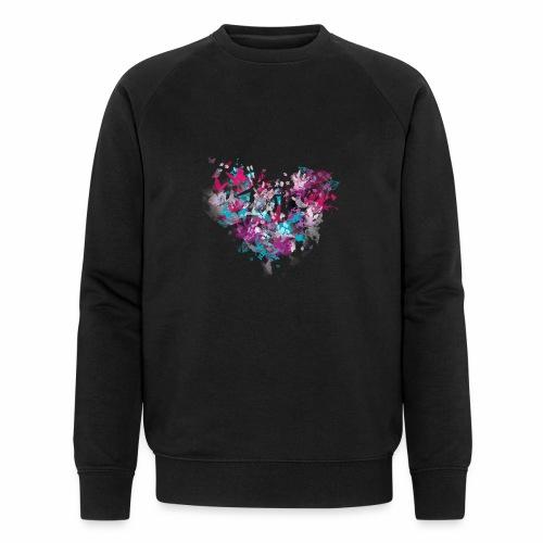 Love with Heart - Men's Organic Sweatshirt by Stanley & Stella