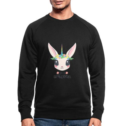 I am Unicorn - Männer Bio-Sweatshirt