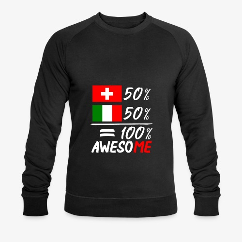 50% Schweiz 50% Italien - Männer Bio-Sweatshirt
