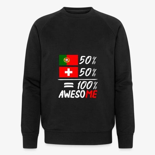 50% Portugal 50% Schweiz - Männer Bio-Sweatshirt