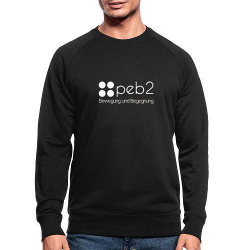 Logo peb2 weiss - Männer Bio-Sweatshirt