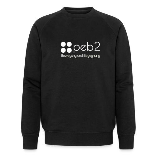 Logo peb2 weiss - Männer Bio-Sweatshirt von Stanley & Stella