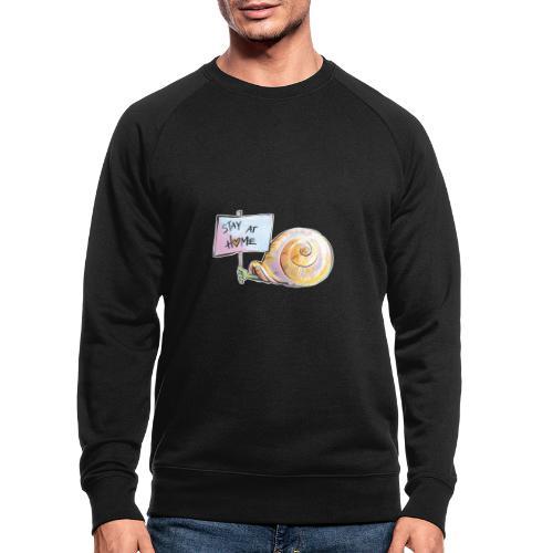 Stay at home - Männer Bio-Sweatshirt