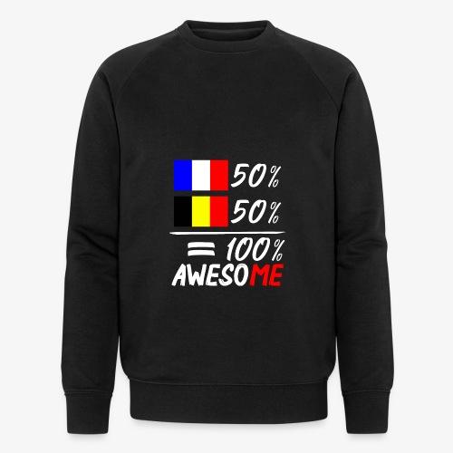 50% Frankreich 50% Belgien - Männer Bio-Sweatshirt