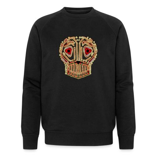 dead skull resembles herbaceous scary culture art - Men's Organic Sweatshirt by Stanley & Stella