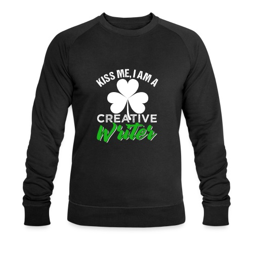 Kiss Me I Am A Creative Writer - Männer Bio-Sweatshirt von Stanley & Stella