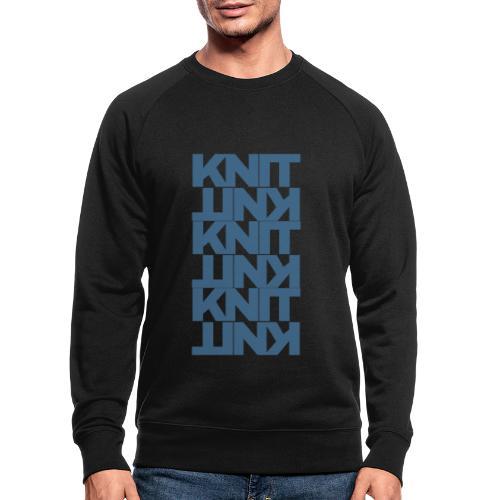 Garter Stitch, dark - Men's Organic Sweatshirt