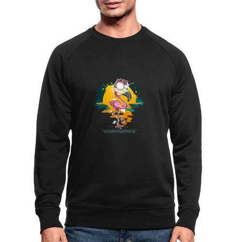 Flamingo Weirdo - Männer Bio-Sweatshirt