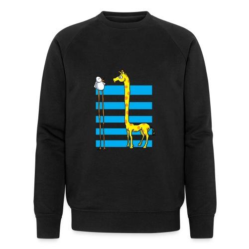 La girafe et l'échassier - Sweat-shirt bio