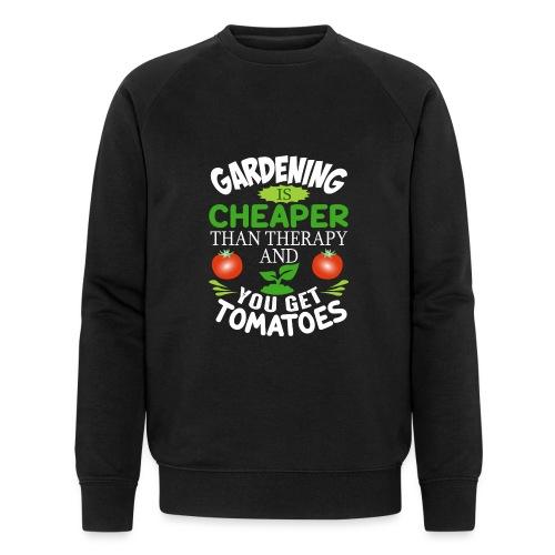 Garten Gartenarbeit Therapie Tomaten Hobbygärtner - Männer Bio-Sweatshirt von Stanley & Stella