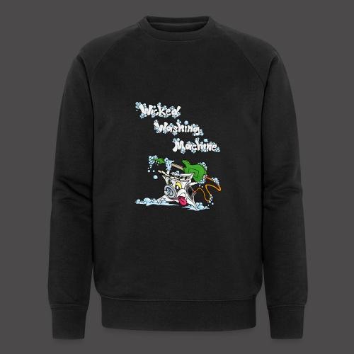 Wicked Washing Machine Cartoon and Logo - Mannen bio sweatshirt