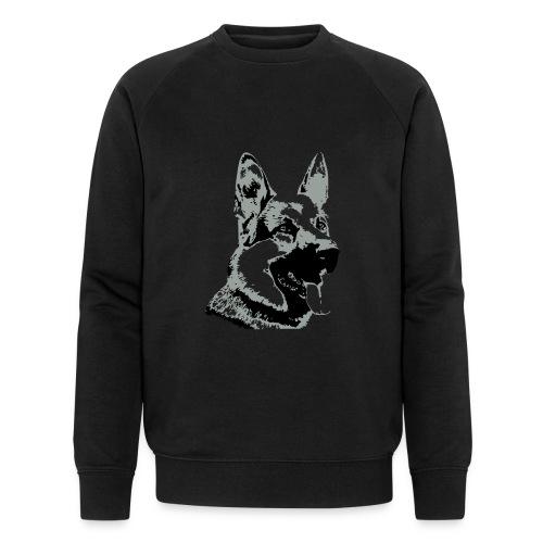 Dessin Chien Berger allemand 2 couleurs - Sweat-shirt bio Stanley & Stella Homme