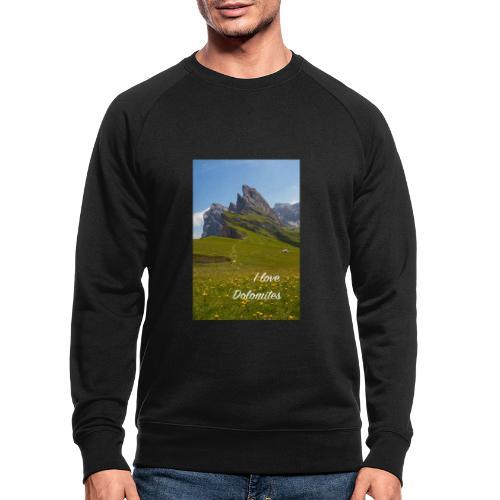 Seceda und Geisler Spitzen - Männer Bio-Sweatshirt