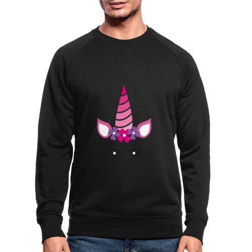 Einhorn - Männer Bio-Sweatshirt