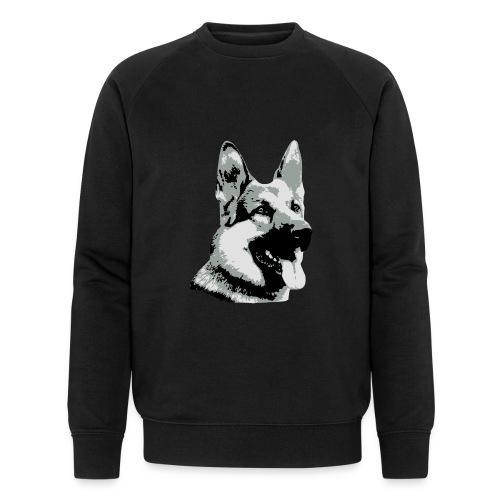 Dessin Chien Berger allemand 3 couleurs - Sweat-shirt bio Stanley & Stella Homme