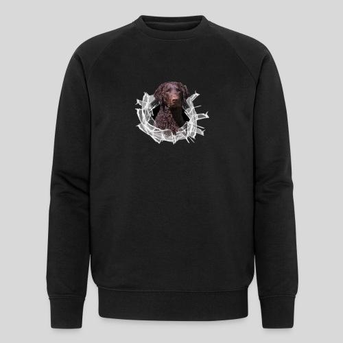 Curly Coated Liver im Glasloch - Männer Bio-Sweatshirt von Stanley & Stella