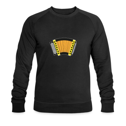 Schwyzerörgeli gelb schwarzer Hintergrund - Männer Bio-Sweatshirt