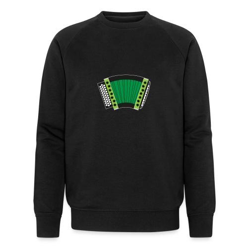 Schwyzerörgeli grün schwarzer Hintergrund - Männer Bio-Sweatshirt