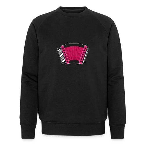Schwyzerörgeli pink schwarzer Hintergrund - Männer Bio-Sweatshirt