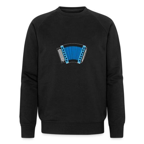Schwyzerörgeli blau schwarzer Hintergrund - Männer Bio-Sweatshirt