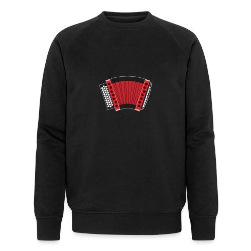 Schwyzerörgeli rot schwarzer Hintergrund - Männer Bio-Sweatshirt
