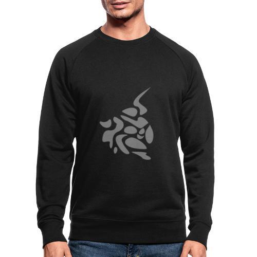 Arabesque argent, design épuré original - Sweat-shirt bio
