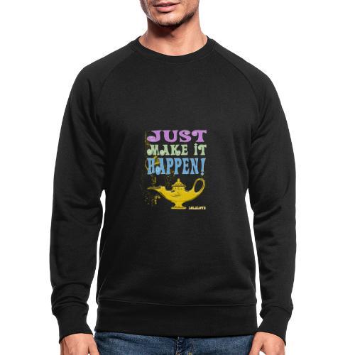 JUST make it happen! - Männer Bio-Sweatshirt