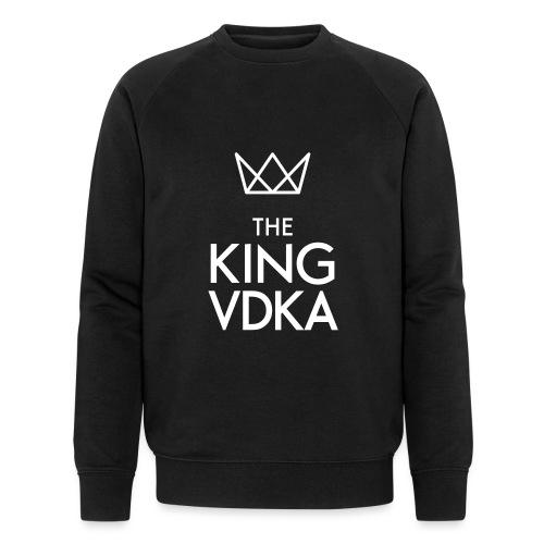 The King VDKA Logo weiss - Männer Bio-Sweatshirt