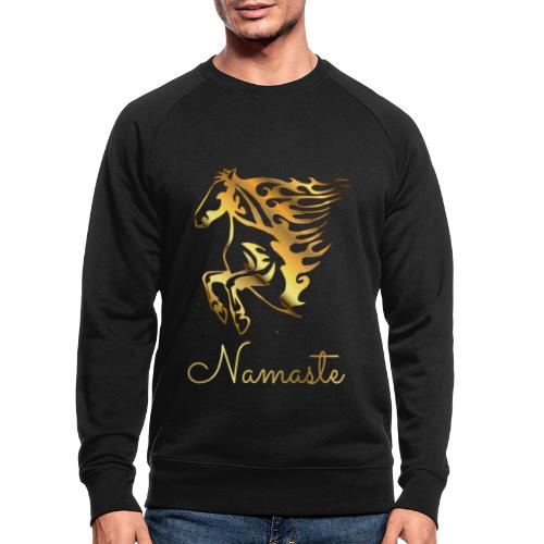 Namaste Horse On Fire - Männer Bio-Sweatshirt