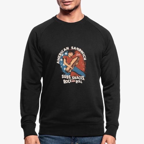 American Sandwich Rocker hell - Männer Bio-Sweatshirt