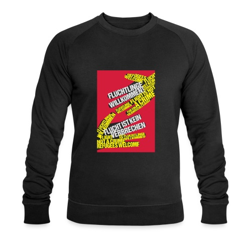 Flüchtlinge Willkommen r - Männer Bio-Sweatshirt von Stanley & Stella
