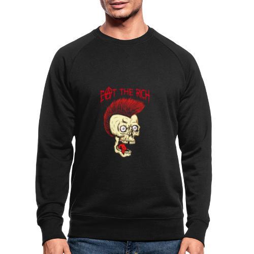 Eat The Rich (For Dark Shirts) - Männer Bio-Sweatshirt