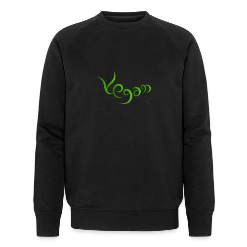 Vegaani käsinkirjoitettu design - Miesten luomucollegepaita