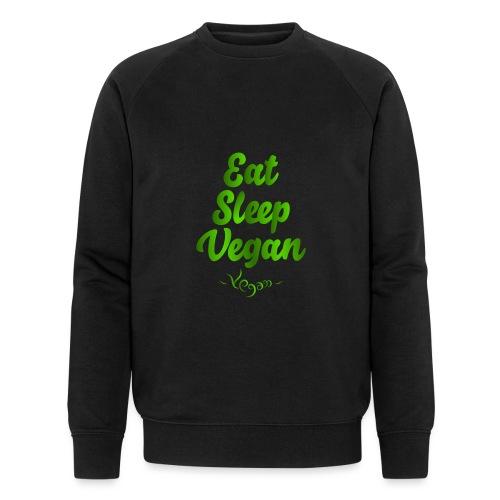 Eat Sleep Vegan - Miesten luomucollegepaita
