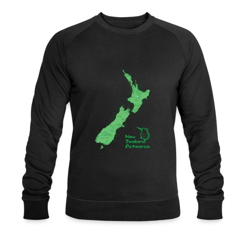 New Zealand's Map - Men's Organic Sweatshirt by Stanley & Stella