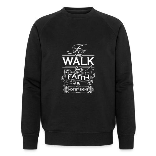walk white - Men's Organic Sweatshirt by Stanley & Stella